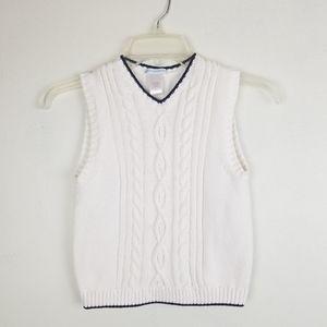 Janie & Jack White Knit Vest